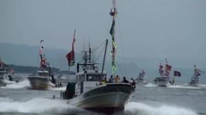篠島祇園・野島祭り 船団パレード